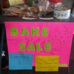 I should of taken the picture at the very beginning of the bake sale...not near the end.