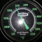 Temperature of the grill needs to stay between 225/250 degrees F through the whole cooking process.
