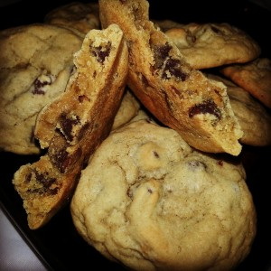 chocolate pbutter chip cookies