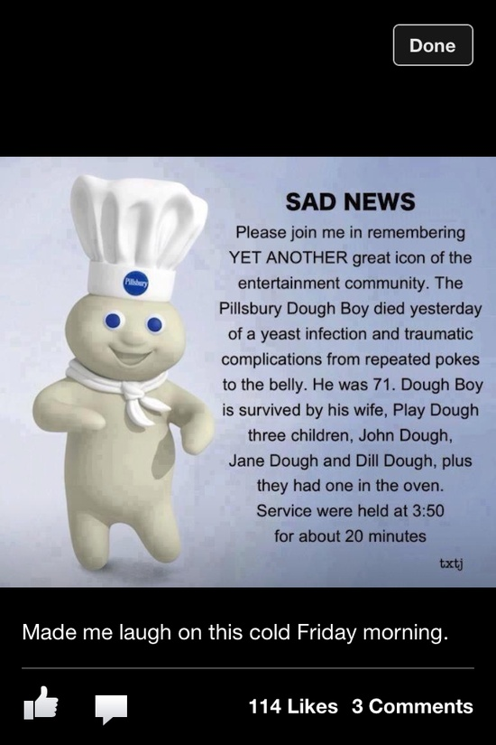 Sad news everyone