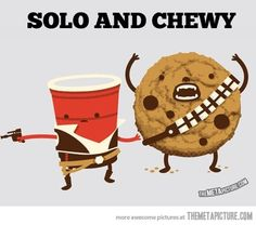 I will always make an association with Star Wars and chocolate cookies w/ milk.