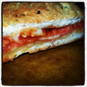 Stromboli, made with our homemade pizza sauce.