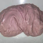 1st batch, purple (sort of) playdough